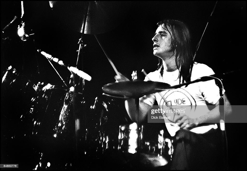 Photo of AC/DC; <a gi-track='captionPersonalityLinkClicked' href=/galleries/search?phrase=Phil+Rudd&family=editorial&specificpeople=3760625 ng-click='$event.stopPropagation()'>Phil Rudd</a> performing live onstage on first UK tour