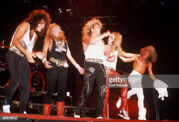 Photo of Adrian VANDENBERG and WHITESNAKE and Rudy SARZO and Vivian CAMPBELL and David COVERDALE and Tommy ALDRIDGE LR Vivian Campbell Rudy Sarzo...