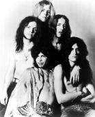 Photo of AEROSMITH and Brad WHITFORD and Steven TYLER and Joey KRAMER and Joe PERRY and Tom HAMILTON Clockwise from bottom left Steven Tyler Joey...
