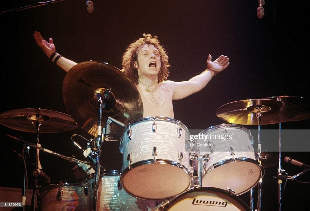 Photo of AEROSMITH and Joey KRAMER Joey Kramer performing live onstage