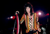 Photo of AEROSMITH and Steven TYLER Steven Tyler performing live onstage