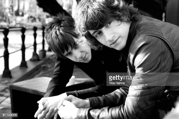 PARADISO Photo of Alex TURNER and LAST SHADOW PUPPETS and Miles KANE Miles Kane and Alex Turner posed