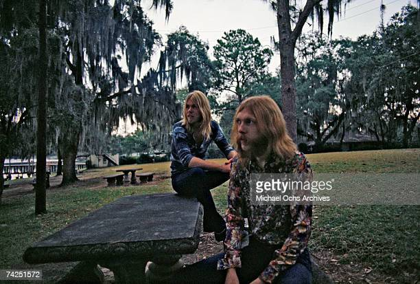 Photo of Allman Brothers October 16 Alabama Muscle Shoals Allman BrothersLR Gregg Allman backgroundDuane Allman Foreground Photo by Michael Ochs...