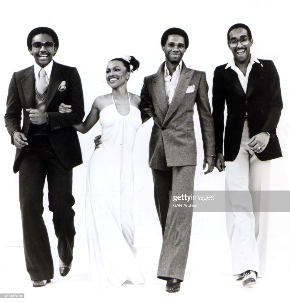 Photo of American group Chic posed full length in 1977. Left to right: Bernard Edwards, Norma Jean Wright, <a gi-track='captionPersonalityLinkClicked' href=/galleries/search?phrase=Nile+Rodgers&family=editorial&specificpeople=217582 ng-click='$event.stopPropagation()'>Nile Rodgers</a> and <a gi-track='captionPersonalityLinkClicked' href=/galleries/search?phrase=Tony+Thompson&family=editorial&specificpeople=801462 ng-click='$event.stopPropagation()'>Tony Thompson</a>.