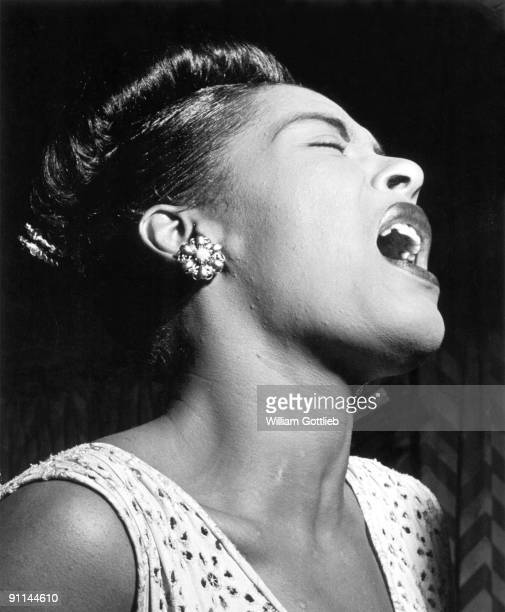 Photo of American jazz singer Billie Holiday performing at the Club Downbeat in Manhattan Bill Gottlieb's picture captures all her emotions