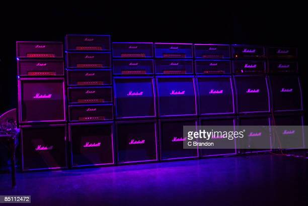 S BUSH EMPIRE Photo of AMPLIFIERS Marshall amplifiers on stage