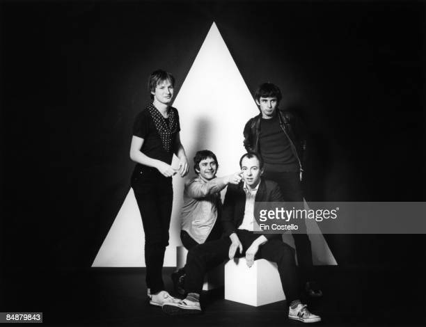 Photo of Andy PARTRIDGE and XTC and Barry ANDREWS and Colin MOULDING LR Andy Partridge Terry Chambers Barry Andrews Colin Moulding