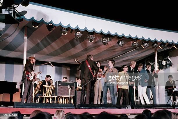 FEST Photo of ANIMALS and Long John BALDRY and Rod STEWART the Animals performing live onstage with Long John Baldry Rod Stewart