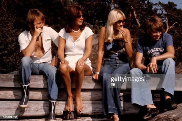 Photo of Anni Frid LYNGSTAD and ABBA and Bjorn ULVAEUS and Benny ANDERSSON and Agnetha FALTSKOG LR Benny Andersson AnniFrid Lyngstad Agnetha Faltskog...