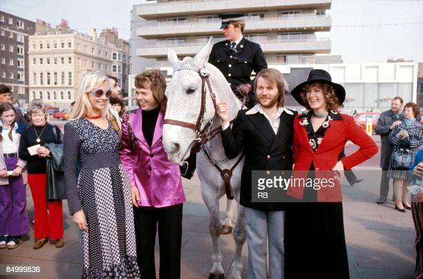 Photo of Anni Frid LYNGSTAD and Benny ANDERSSON and Agnetha FALTSKOG and ABBA and EUROVISION SONG CONTEST and Bjorn ULVAEUS LR Agnetha Faltskog Bjorn...