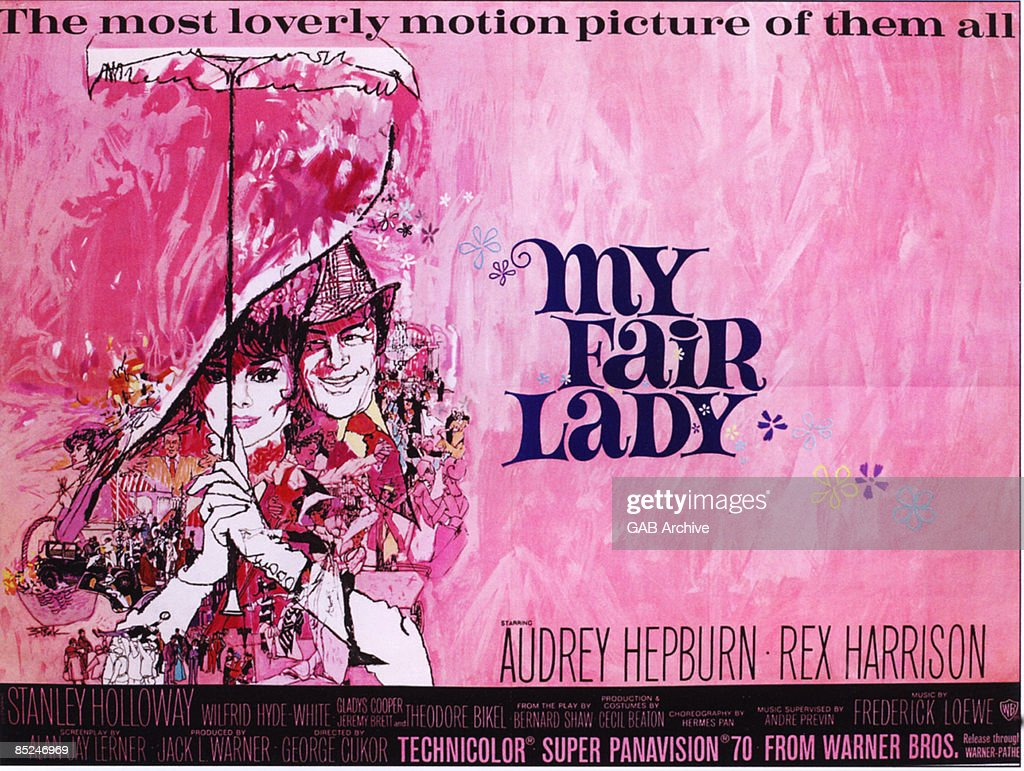 Photo of Audrey HEPBURN and FILM POSTERS; My Fair Lady with Audrey Hepburn