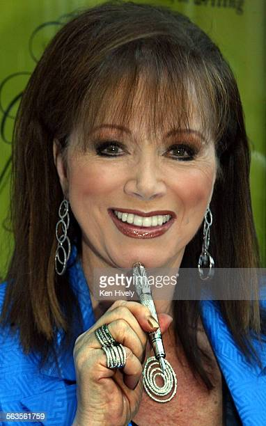 Photo of Author Jackie Collins with $150000 Montblanc pen Montblanc is sponsoring a giant touring blank book that anyone can contribute a line to...