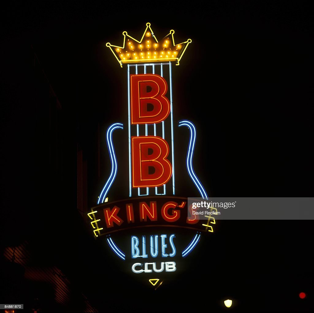 Photo of BB KING and NEON SIGN and BLUES and MEMPHIS;