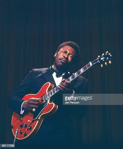 Photo of BB KING BB King performing live onstage playing Gibson ES345 guitar