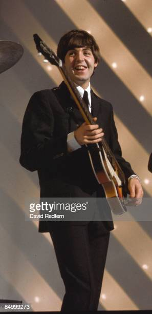 STARS Photo of BEATLES and Paul McCARTNEY of Beatles performing at Teddington Studios