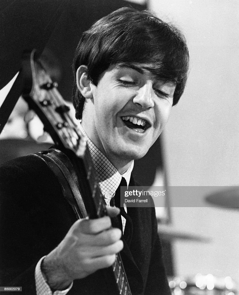STARS Photo of BEATLES and Paul McCARTNEY, of the Beatles, performing at Alpha Television Studios, Aston, Birmingham