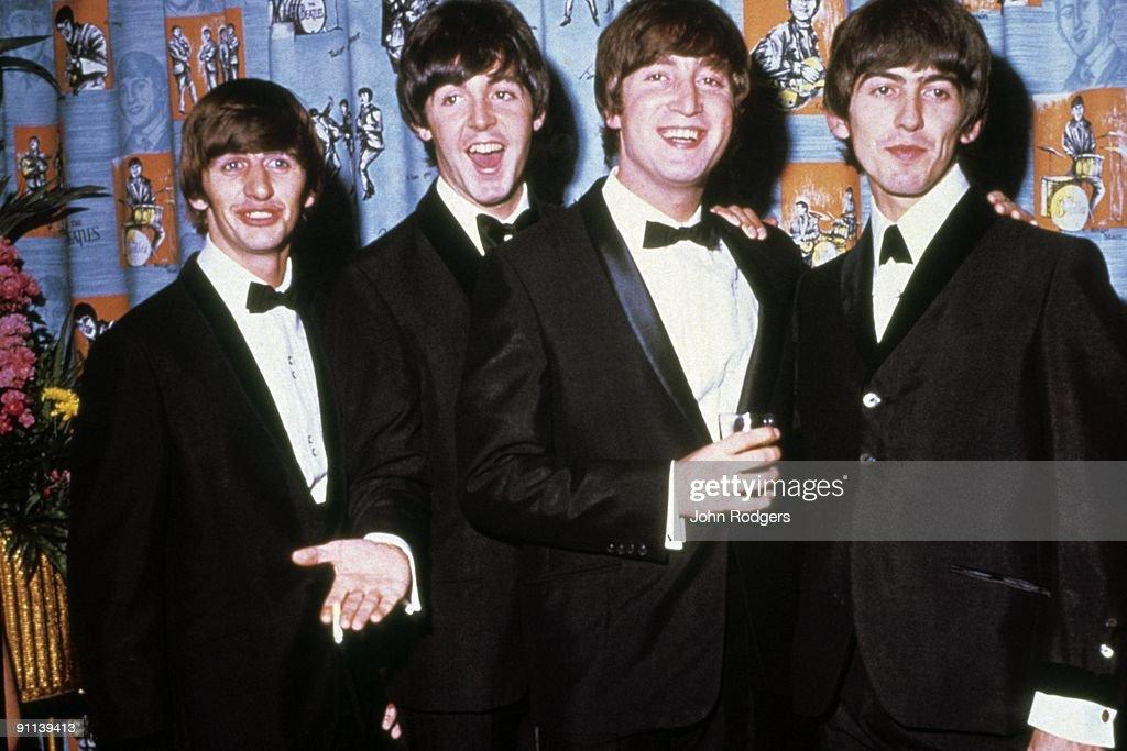 Ringo Starr, Paul McCartney, John Lennon, George Harrison posed, group shot - at the 'A Hard Day's Night' premier