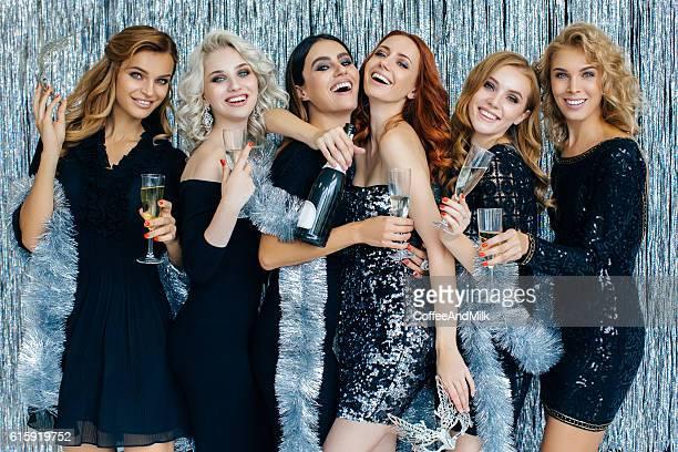 Photo of beautiful girls celebrating new year