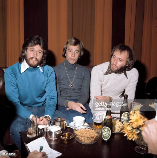 Photo of BEE GEES Barry Gibb Robin Gibb Maurice Gibb