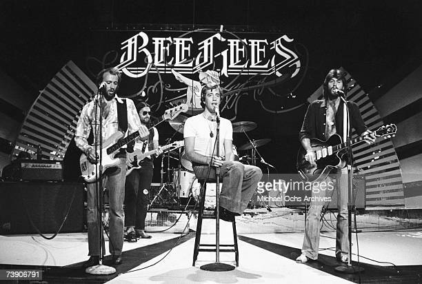 Photo of Bee Gees California TV show Bee GeesLR Maurice Gibb Robin Gibb Barry Gibb