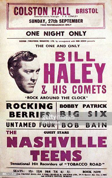 Photo of Bill HALEY and ROCKIN BERRIES and NASHVILLE TEENS and CONCERT POSTERS package tour concert poster