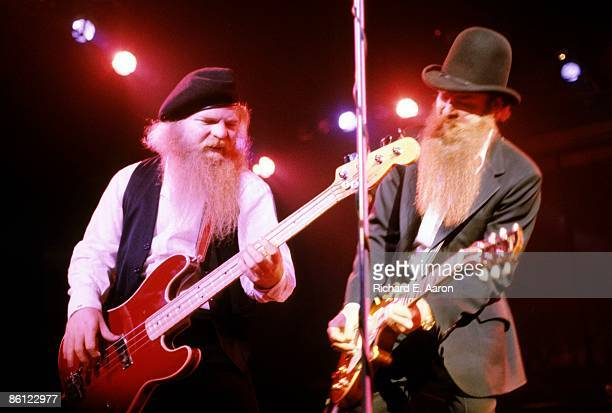 USA Photo of Billy GIBBONS and Dusty HILL and ZZ TOP LR Dusty Hill and Billy Gibbons performing live onstage