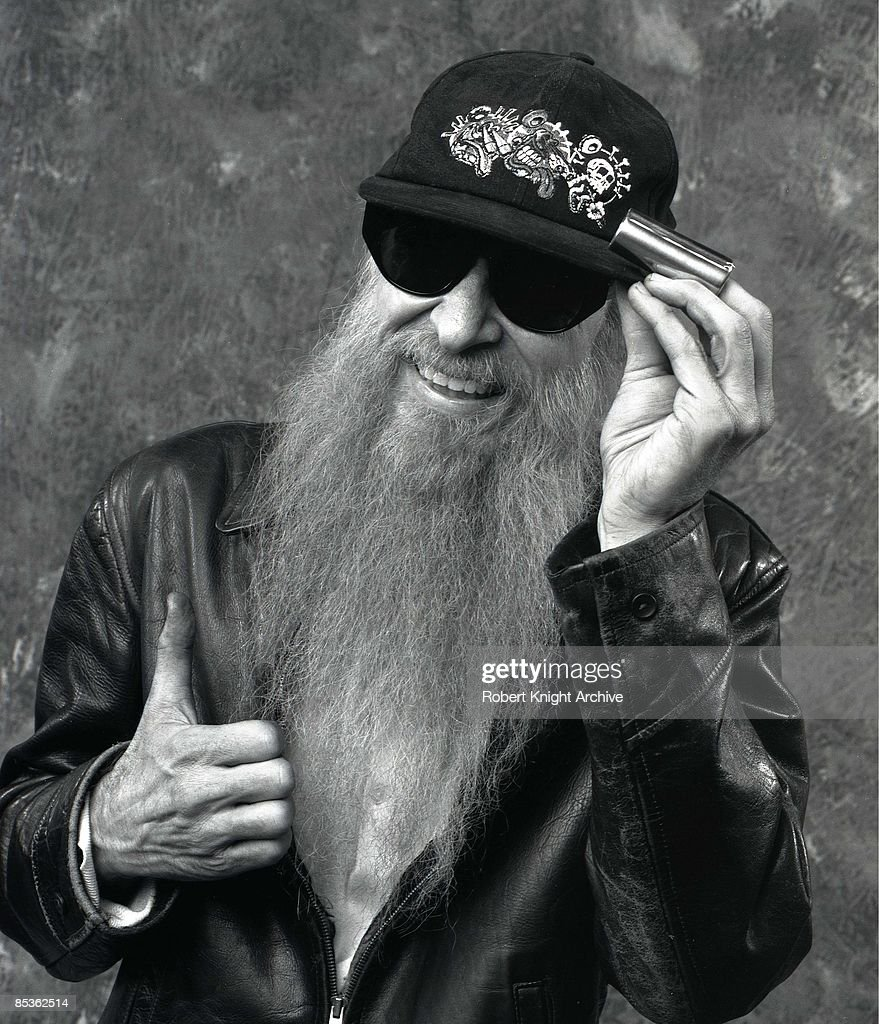 HOLLYWOOD Photo of Billy GIBBONS and ZZ TOP, Billy Gibbons, posed at Rockwalk induction
