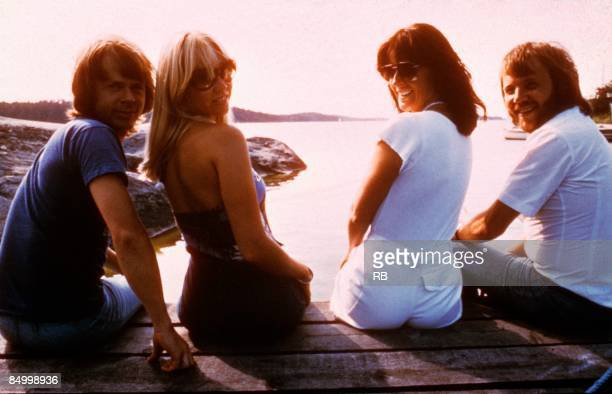 Photo of Bjorn ULVAEUS and ABBA and Benny ANDERSSON and Anni Frid LYNGSTAD and Agnetha FALTSKOG LR Bjorn Ulvaeus Agnetha Faltskog AnniFrid Lyngstad...