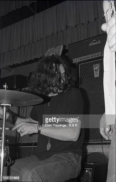Photo of BLACK SABBATH and Bill WARD Bill Ward performing on stage as 'Earth' in August 1969