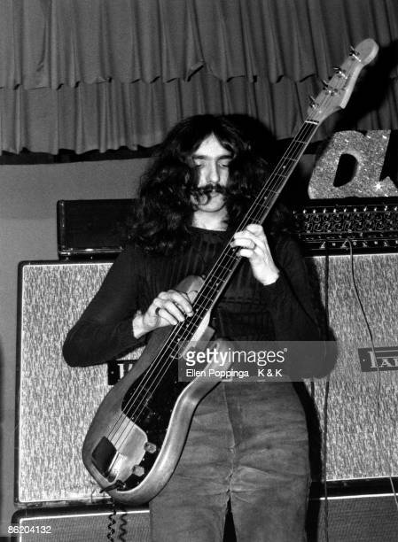 CLUB Photo of BLACK SABBATH and Geezer BUTLER Geezer Butler performing on stage as 'Earth'