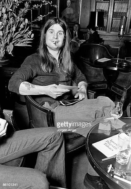 Photo of BLACK SABBATH BlackSabbath A 26 Ozzy Osbourne in the bar of Plaza Hotel Copenhagen Probably 1974
