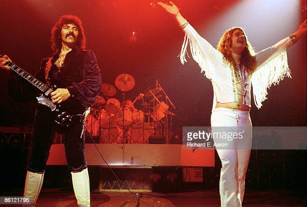 Tony Iommi Ozzy Osbourne performing live onstage