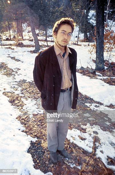 WOODSTOCK Photo of Bob DYLAN posed