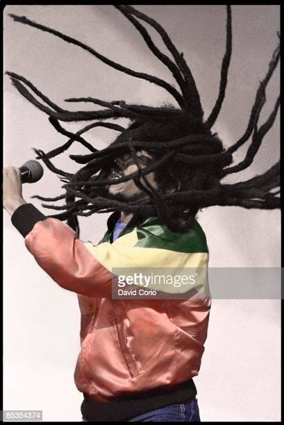 BOWL Photo of Bob MARLEY performing live onstage dreadlocks EDITORIAL