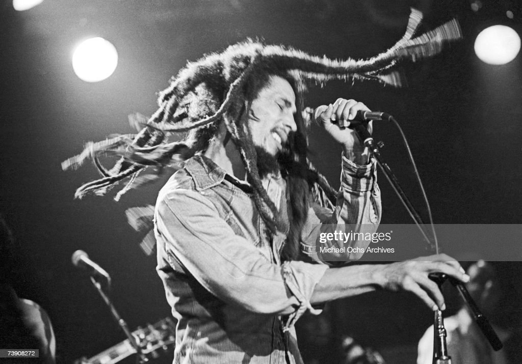 Photo of Bob Marley.