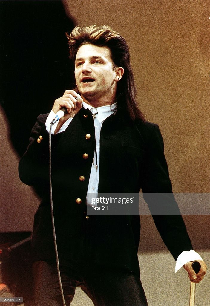 STADIUM Photo of BONO of U2 performing live onstage at Live Aid