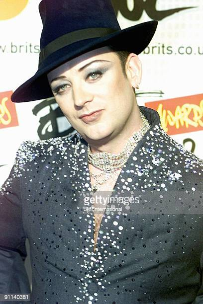 COURT Photo of BOY GEORGE BRIT Awards 2002 Earls Cort 2 London 20th February 2002