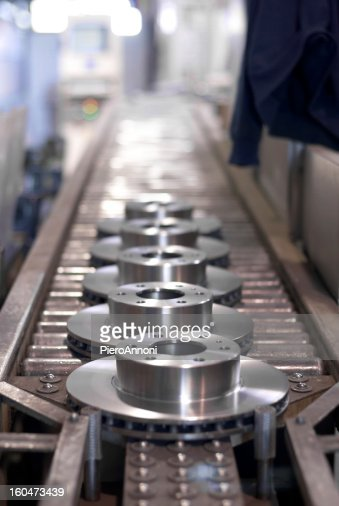 Photo of brake disks manufacturing industry