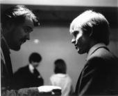 POOL Photo of Brian JONES and Giorgio GOMELSKY and ROLLING STONES Giorgio Gomelsky Brian Jones backstage at 'The Mod Ball'