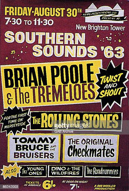 Photo of Brian POOLE The Tremeloes and ROLLING STONES and CONCERT POSTERS Concert poster for show with Brian Poole The Tremeloes