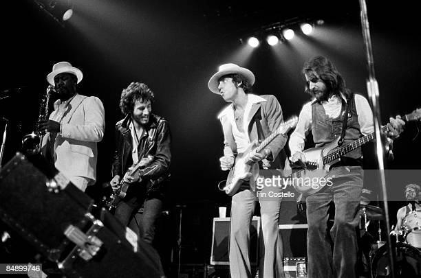 REDBANK Photo of Bruce SPRINGSTEEN and Clarence CLEMONS and Steven VAN ZANDT and Garry TALLENT and Max WEINBERG LR Clarence Clemons Bruce Springsteen...