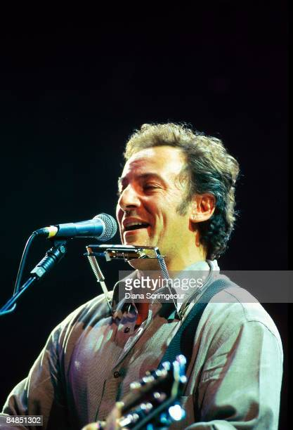 Photo of Bruce SPRINGSTEEN performing live onstage at Amnesty International concert at the Bercy Omnisport Arena