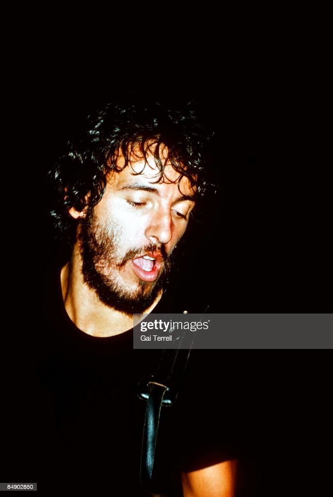 Photo of Bruce SPRINGSTEEN performing live onstage on Born To Run tour c1975