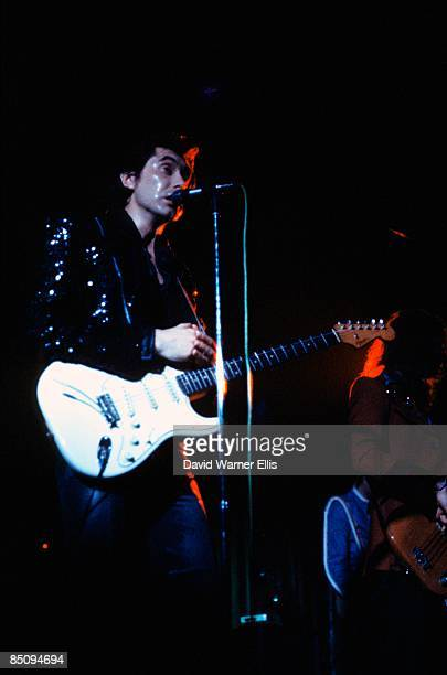 DOME Photo of Bryan FERRY and ROXY MUSIC Bryan Ferry performing live onstage on For Your Pleasure tour playing Fender Stratocaster guitar