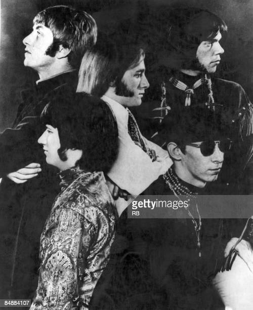 Photo of BUFFALO SPRINGFIELD and Dewey MARTIN and Stephen STILLS and Neil YOUNG and Richie FURAY and Bruce PALMER Posed group portrait Clockwise from...