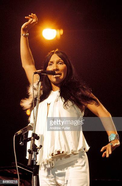 POOL Photo of Buffy ST MARIE Buffy Saint Marie performing on stage at Country Music Festival
