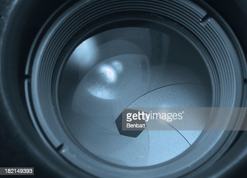 Photo of camera lens on aperture 2 setting