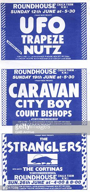ROUNDHOUSE Photo of CARAVAN and CONCERT POSTERS and STRANGLERS and UFO Stranglers