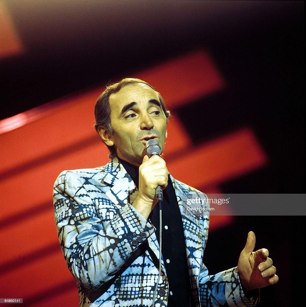 STUDIO Photo of Charles AZNAVOUR Charles Aznavour live on UK TV show
