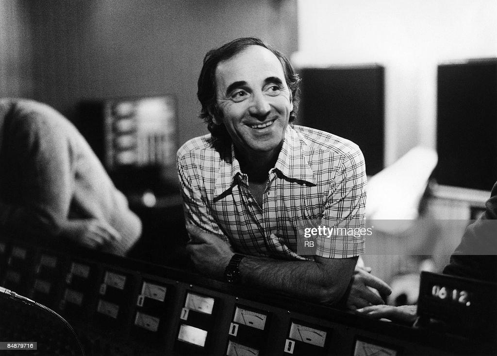 Photo of Charles AZNAVOUR Posed portrait of Charles Aznavour